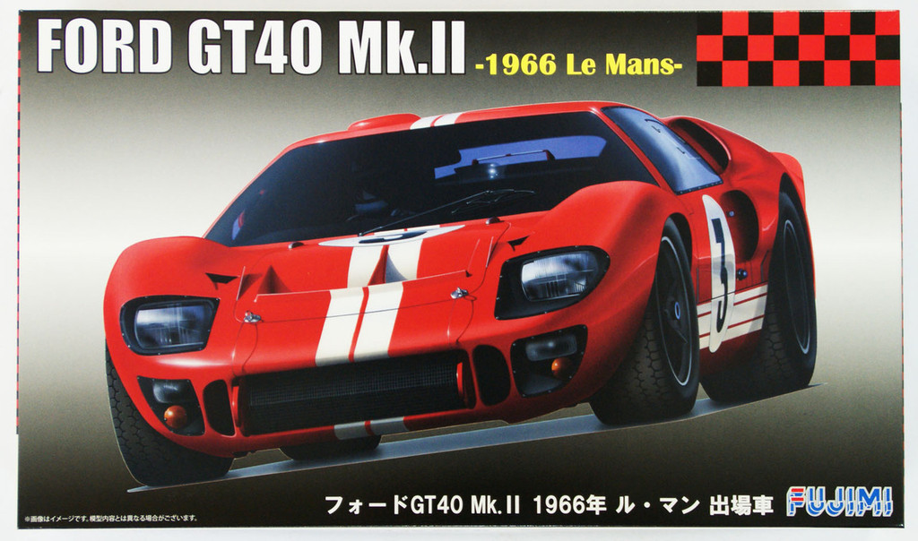 Fujimi RS-51 Ford GT40 Mk.II 1966 Le Mans 1/24 Scale Kit 126067