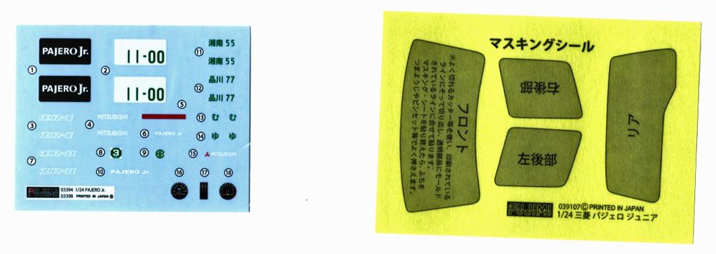 Fujimi ID-116 Mitsubishi Pajero Jr. ZR-II 1/24 Scale Kit