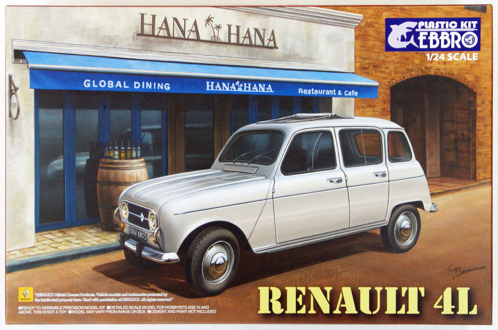 Ebbro 25002 RENAULT 4L 1/24 Scale Plastic Model Kit  4526175250027