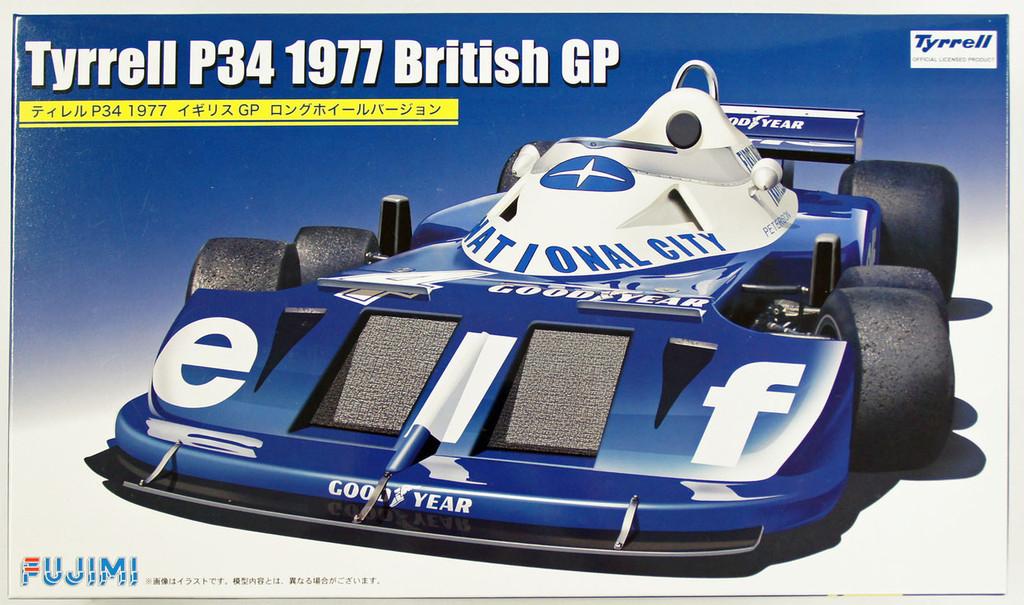 Fujimi GP59 F1 Tyrrell P34 1977 British GP Long Wheel Version 1/20 Scale Kit