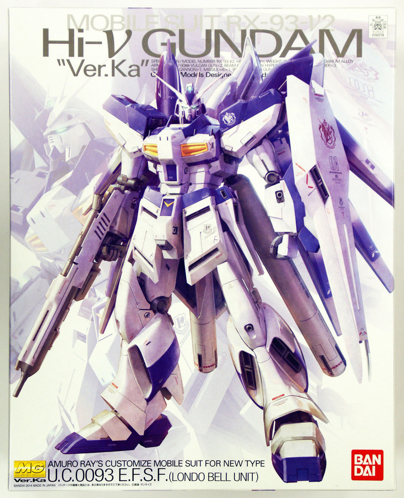 Bandai MG 920782 Gundam RX-93-V2 Hi-V Gundam VersionKa 1/100 Scale Kit
