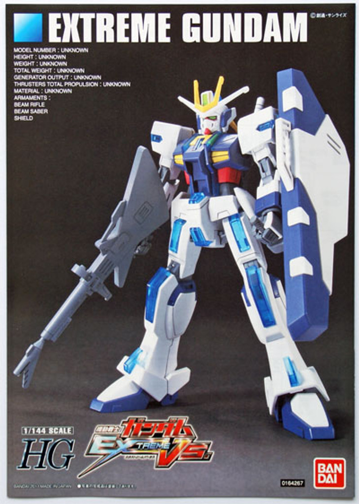 Bandai HGUC 121 Gundam EXTREME Gundam 1/144 Scale Kit