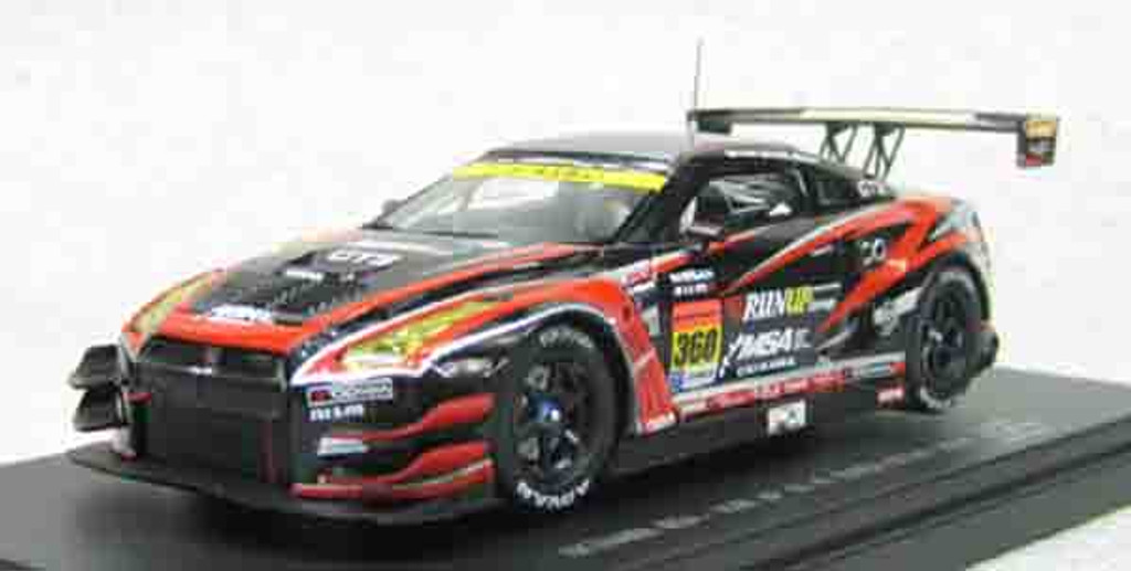Ebbro 45086 OKINAWA IMP-RUN UP GT-R SUPER GT300 2014 No.360 Black 1/43 Scale