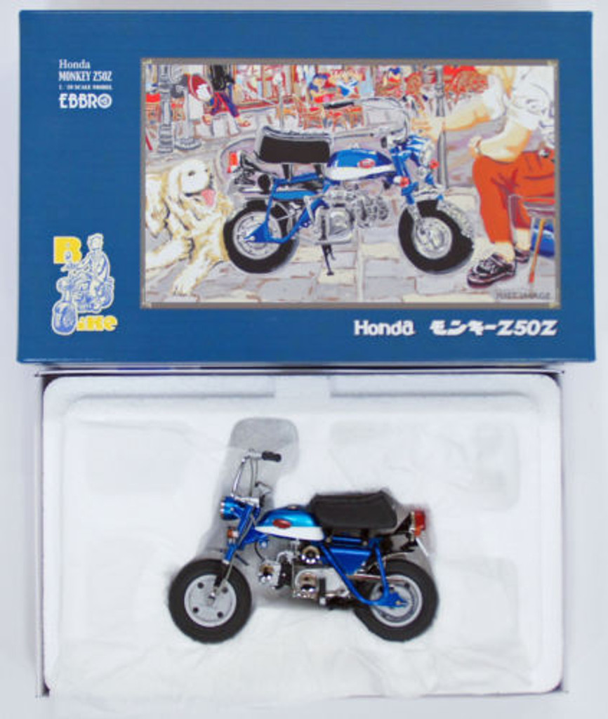 Ebbro 10021 Honda Monkey Z50Z (Blue) 1/10 Scale