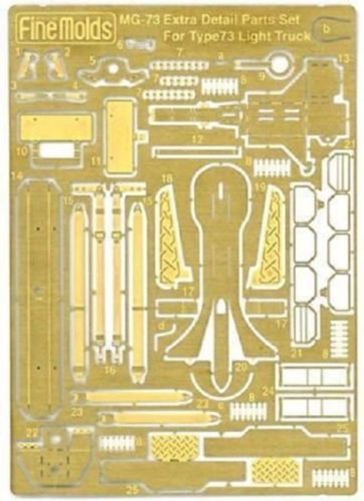Fine Molds Etching MG-73 Extra Detail Set JGSDF Type 73 Light Truck 1/35 Scale