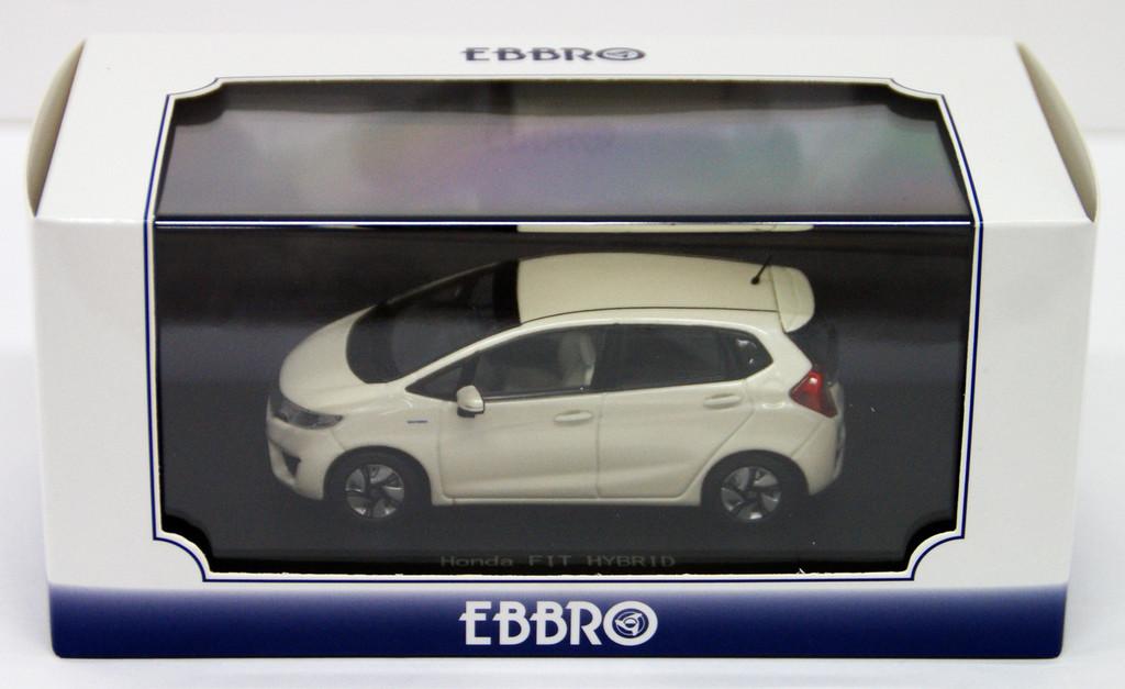 Ebbro 45138 HONDA FIT 3 HYBRID Premium White Pearl 1/43 Scale