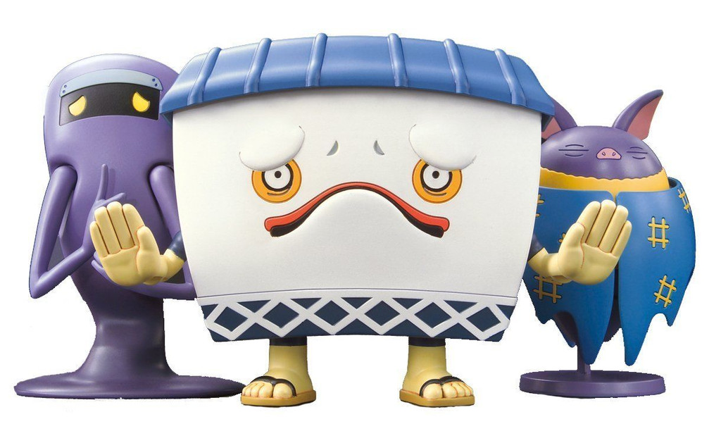 Bandai Yo-Kai Watch 973474 Murikabe & Jimii & Hikoumori Plastic Model Kit
