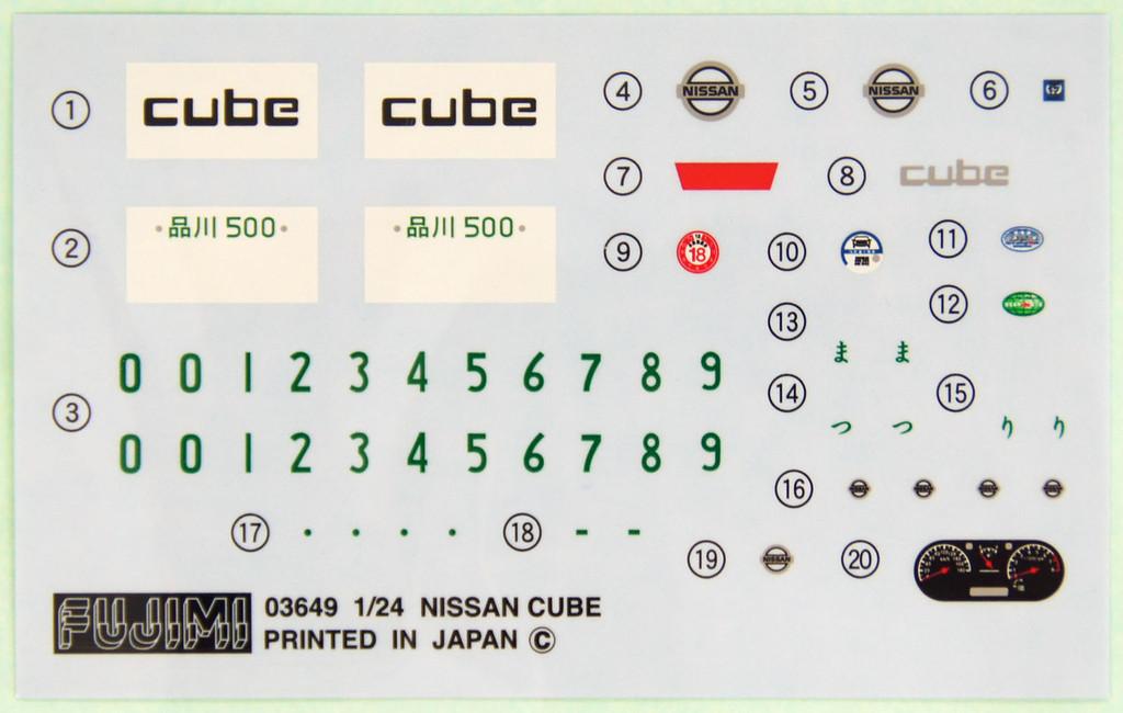 Fujimi ID-66 Nissan Cube EX / Agiactive 1/24 Scale Convertible Kit 039374
