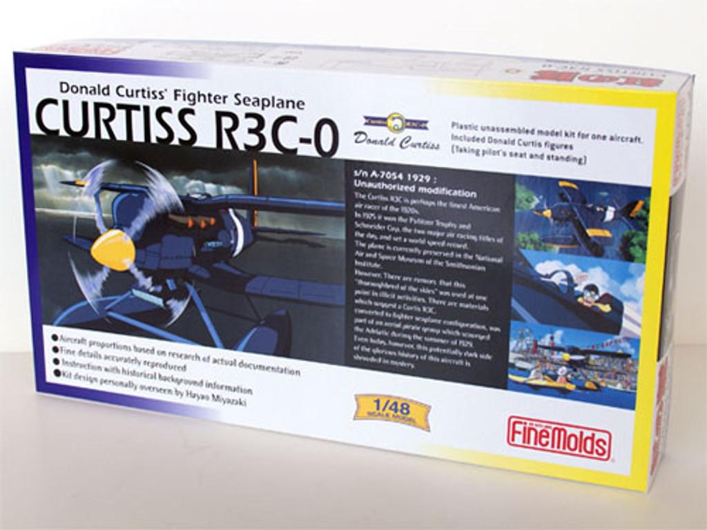 Fine Molds FG2 CURTISS R3C-0 Seaplane PORCO ROSSO (Crimson Pig) 1/48 Scale Kit