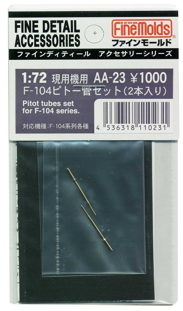 Fine Molds AA23 Pitot Tubes 2 Set for F-104 Series 1/72 Scale Kit