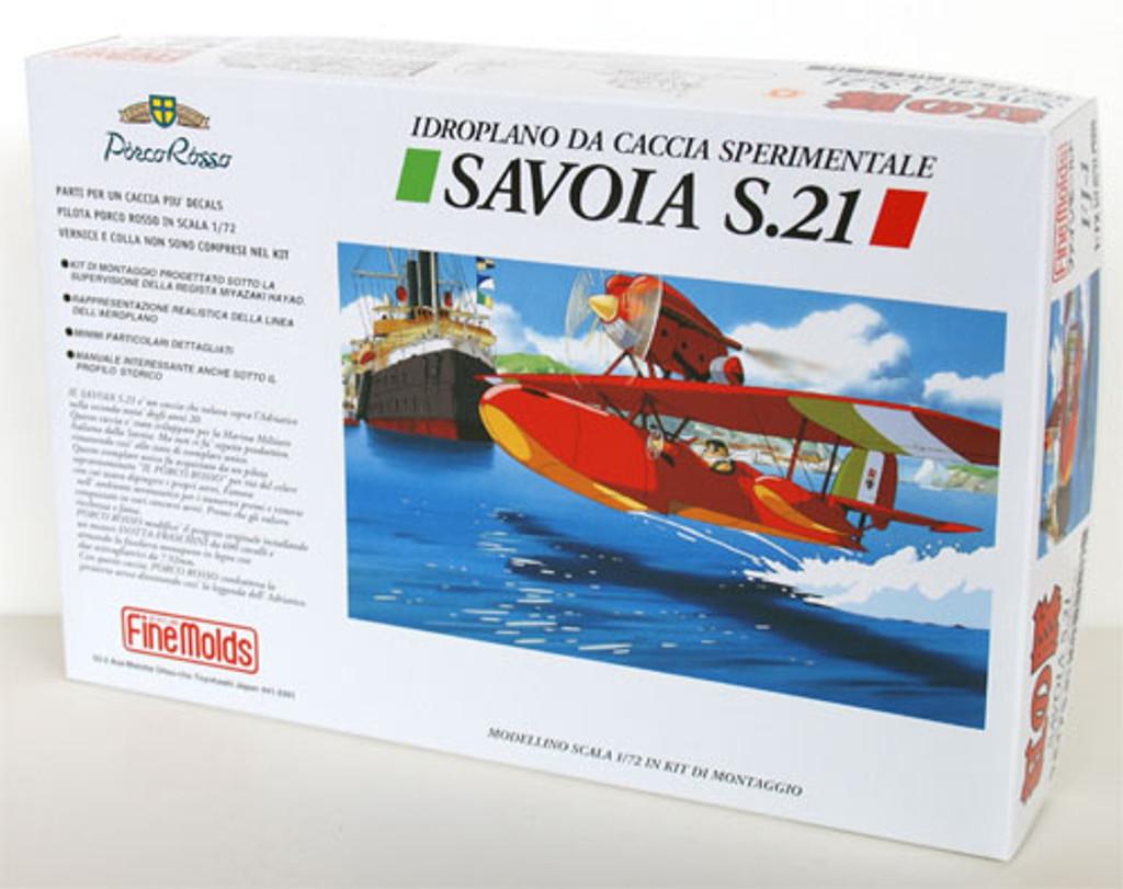 Fine Molds FJ1 SAVOIA S.21 Seaplane PORCO ROSSO (Crimson Pig) 1/72 Scale Kit