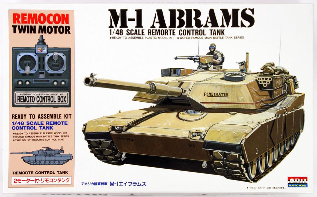 Arii 441510 M-1 ABRAMS Remorte Control Tank 1/48 Scale Kit