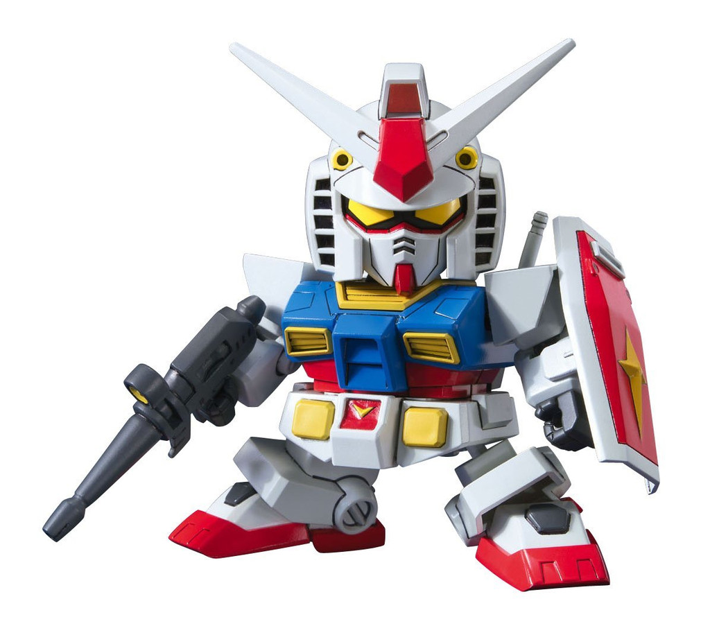 Bandai SD BB 329 Gundam RX-78-2 Gundam (Animation Color) Plastic Model Kit