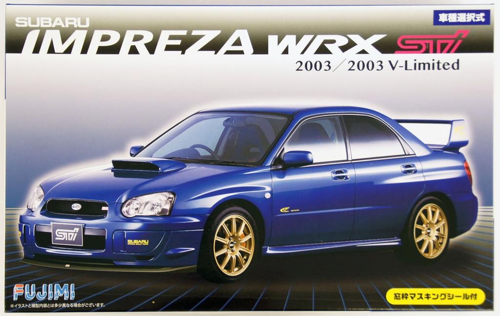 Fujimi ID-103 Subaru Impreza WRX Sti 2003 or 2003 V-Limited 1/24 convertible Kit 039404