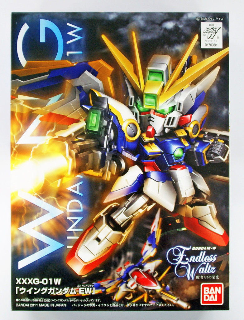 Bandai SD BB 366 Gundam XXXG-01W Wing Gundam EW Plastic Model Kit
