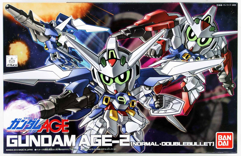 Bandai SD BB 371 Gundam Age-2 (Normal Doublebullet) Plastic Model Kit