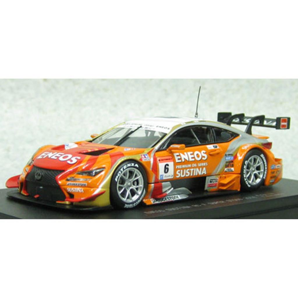 Ebbro 45067 ENEOS SUSTINA RC F SGT 500 2014 No.6 Orange 1/43 Scale