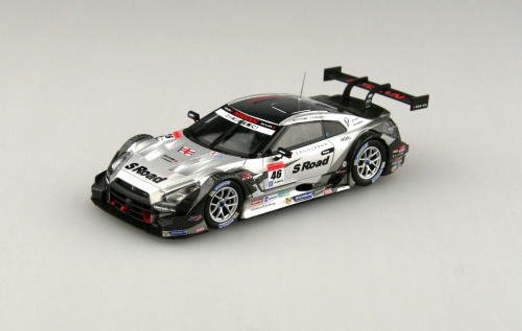 Ebbro 45102 S Road MOLA GT-R SGT 500 2014 Rd.2 Fuji No.46 Silver 1/43 Scale