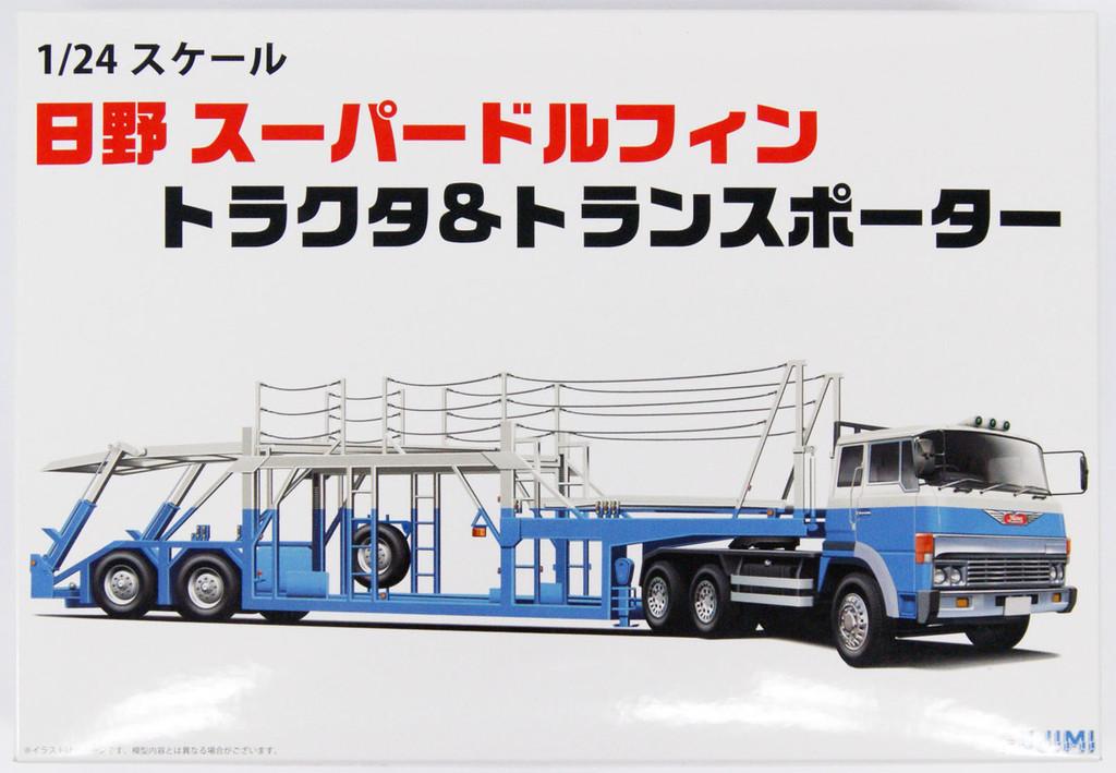 Fujimi 24TR-03 011967 Hino Super Dolphin Tractor and Transporter 1/24 Scale Kit