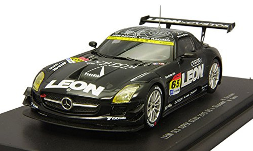 Ebbro 45288 LEON SLS Super GT300 2015 Rd.1 Okayama No.65 Black 1/43 Scale