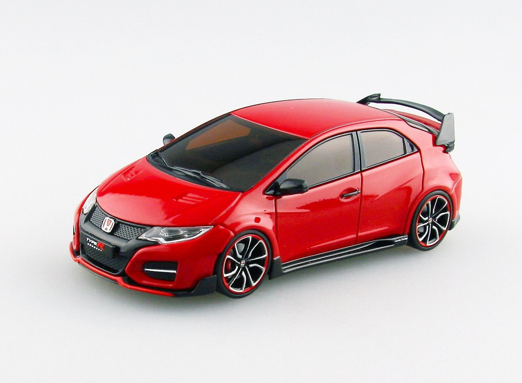 Ebbro 45234 HONDA Civic Type R Concept 2014 Red 1/43 Scale