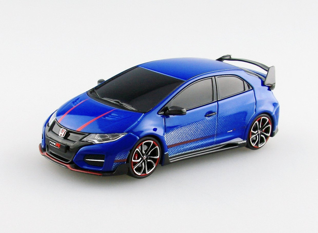 Ebbro 45235 HONDA Civic Type R Concept 2014 Blue 1/43 Scale