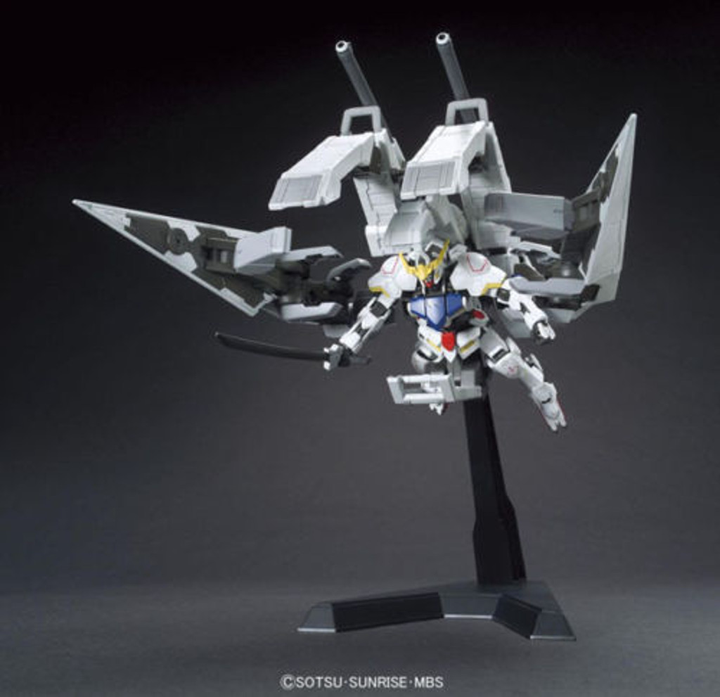 Bandai Iron-Blooded Orphans 007 Gundam Barbatos & Long Distance Transport Booster Kutan Type-III 1/144 Scale Kit
