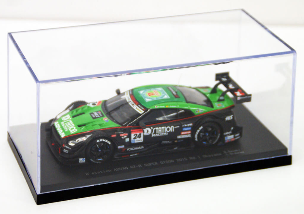 Ebbro 45263 DStation Advan Super GT-R Okayama 2015 No.24 Green Black 1/43 Scale