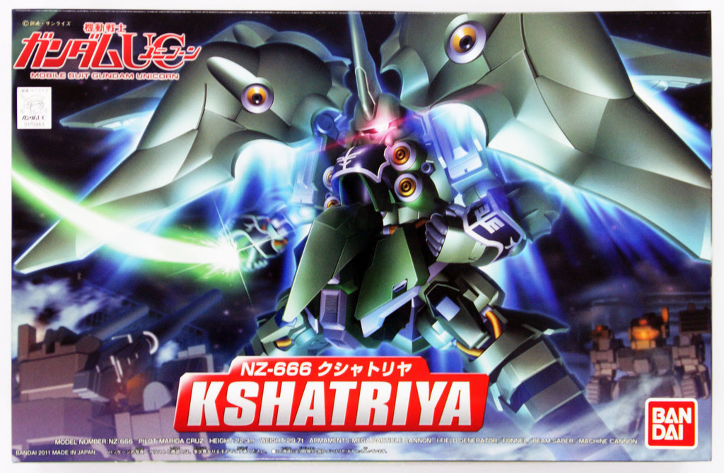 Bandai SD BB 367 Gundam NZ-666 Ksyatriya Plastic Model Kit