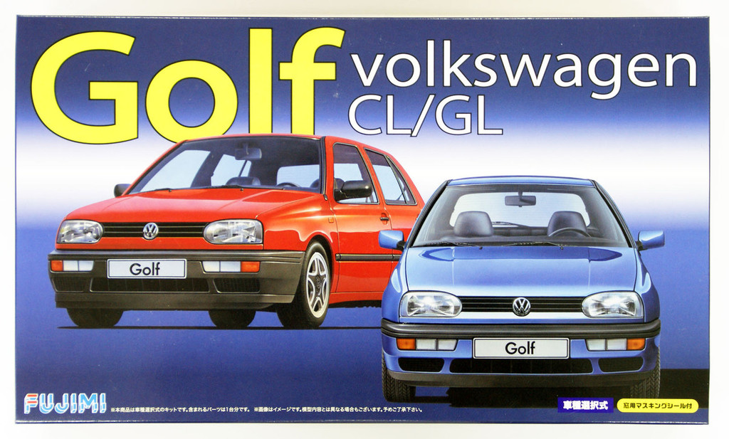 Fujimi RS-27 Volkswagen Golf CL or GL 1/24 Scale convertible Kit 126395