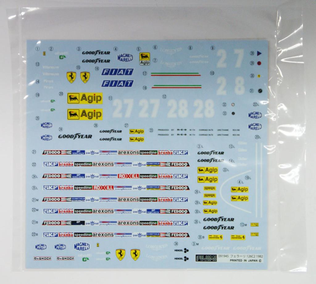 Fujimi GP2 091945 F1 Ferrari 126C2 1982 1/20 Scale Kit 091945