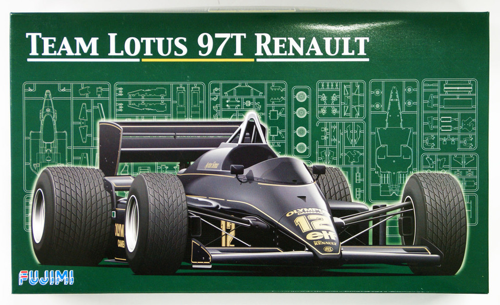Fujimi GP03 091952 F1 Team Lotus 97T Renault 1985 1/20 Scale Kit 091952