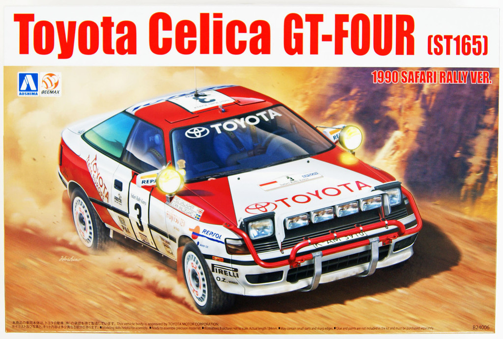 Aoshima 97885 Toyota Celica GT-Four ST165 '90 Safari Rally 1/24 Scale