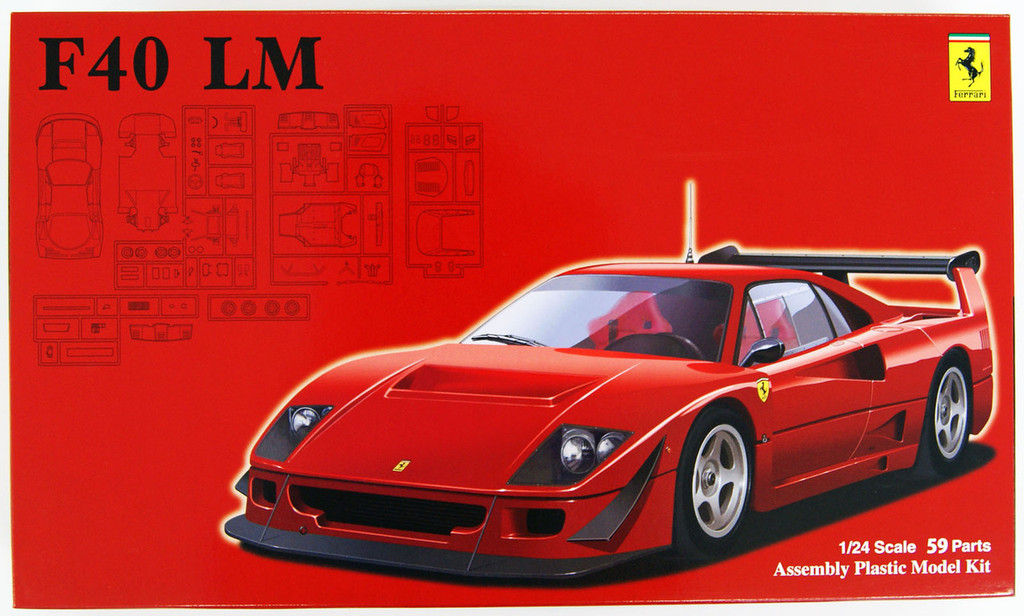 Fujimi RS-114 Ferrari F40 LM 1/24 Scale Kit