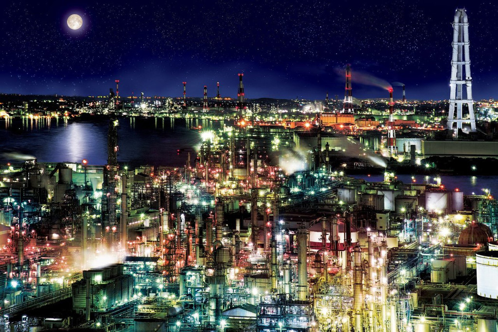 Epoch Jigsaw Puzzle 12-506 Yokkaichi industrial complex Japan (1000 Pieces)