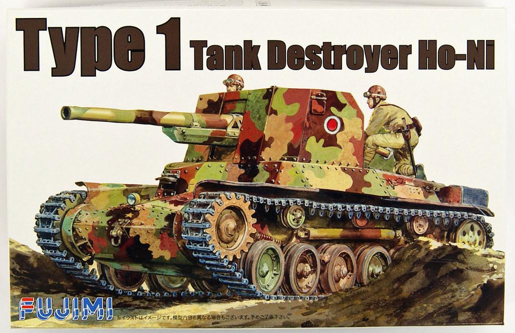 Fujimi WA10 World Armor Type1 Tank Destroyer Ho-Ni 1/76 Scale Kit