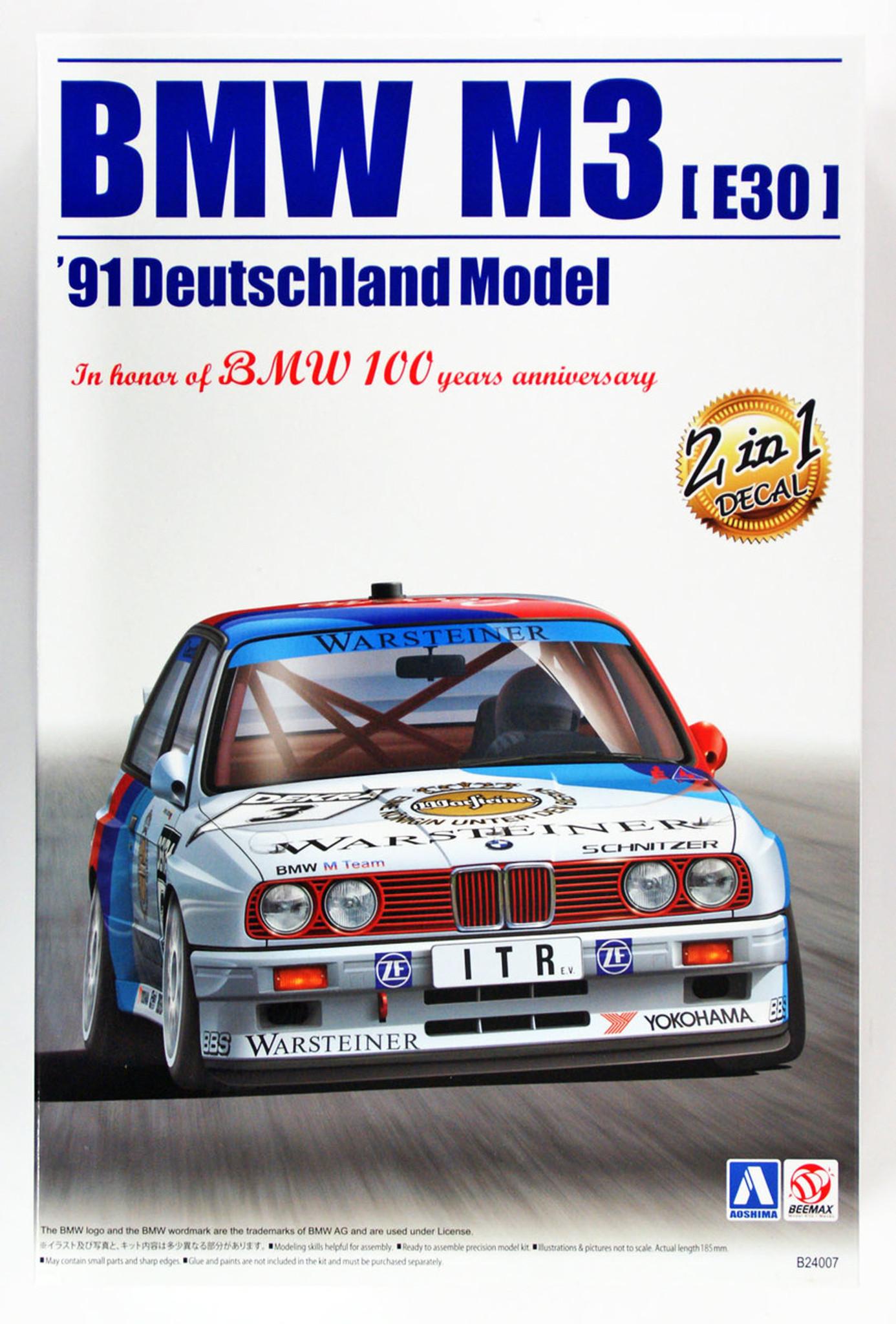Aoshima 98196 BMW M3 E30 Deutschland Model 1/24 | PlazaJapan