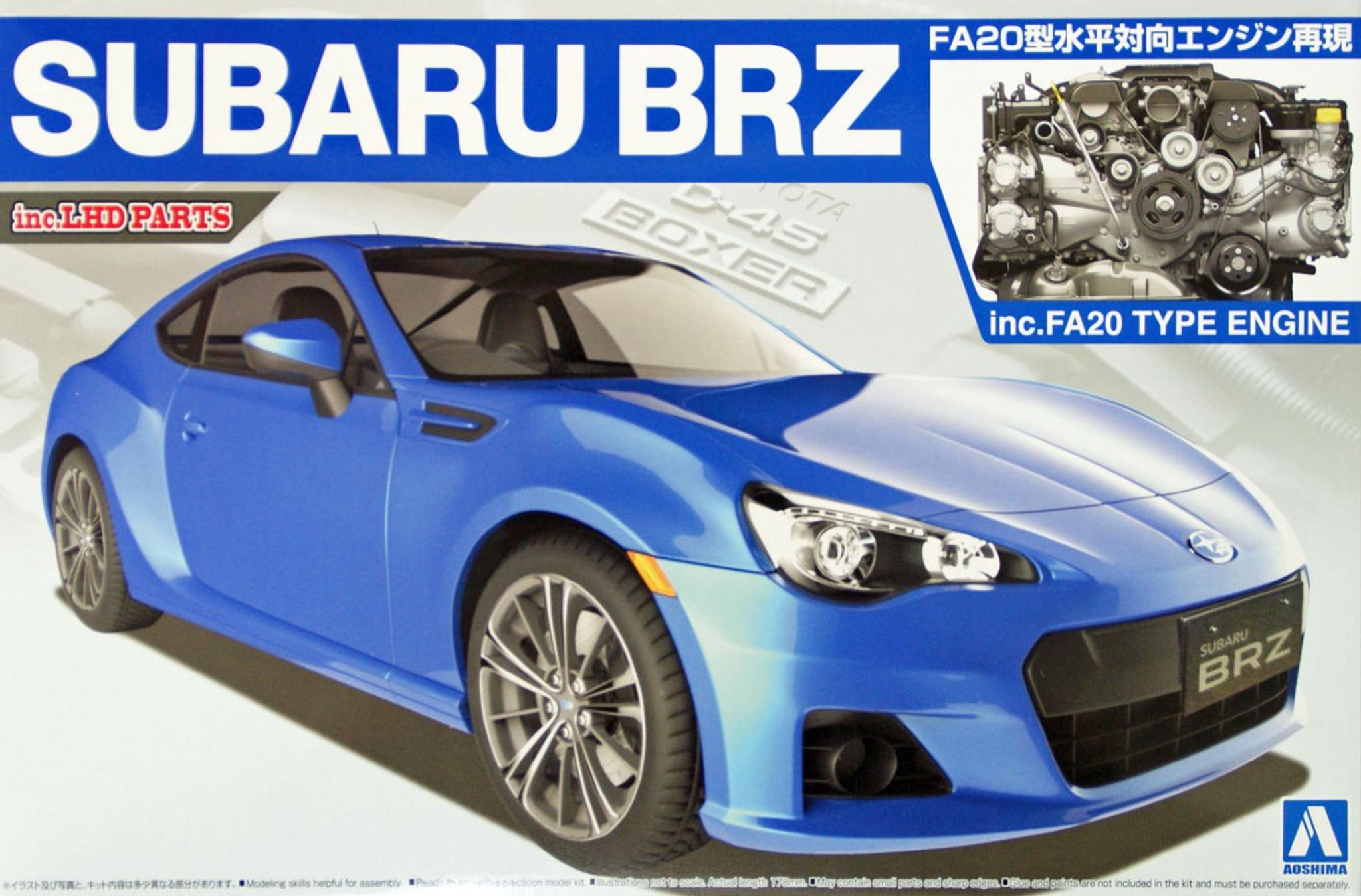 All Types brz sti parts : Aoshima 07617 Subaru BRZ with FA20 Type Engine (inc. LHD parts) 1 ...