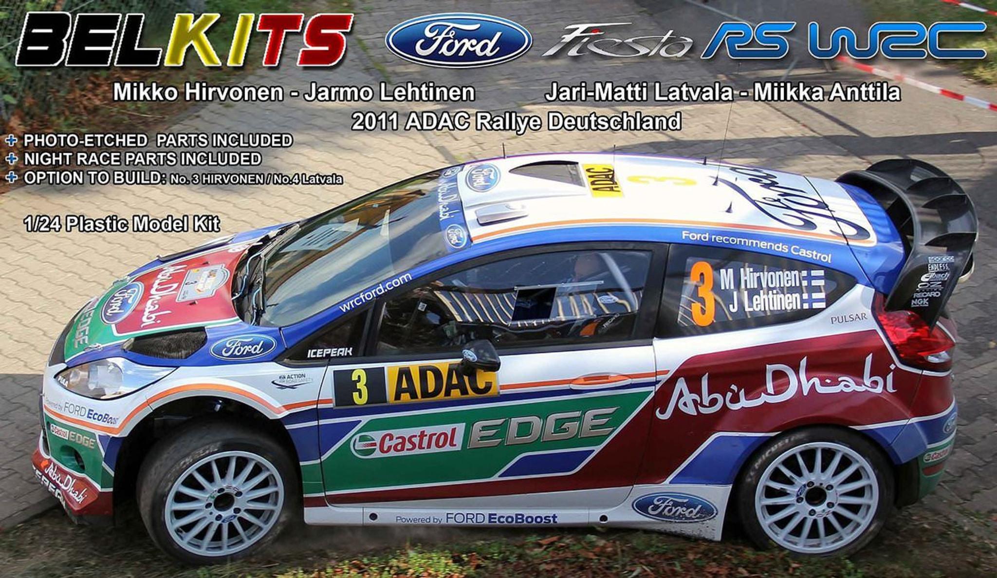 Aoshima (BELKitS) 84311 Ford Fiesta RC WRC 2011 ADAC Rallye ...