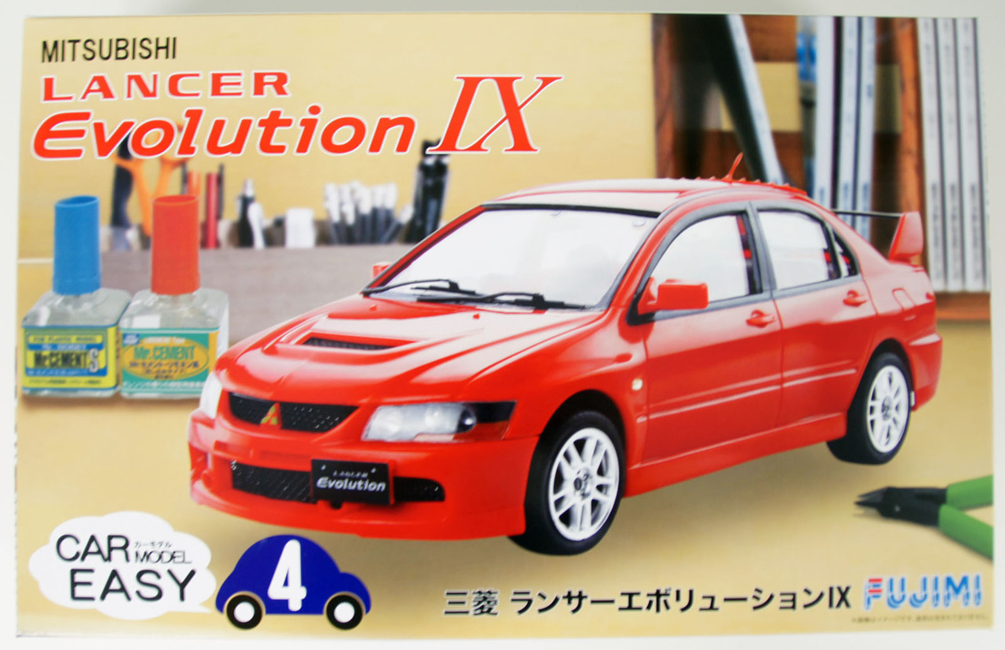 Image result for Fujimi lancer evo Ix easy kit