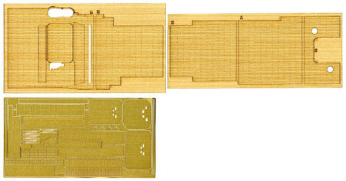 Fujimi 1/350 Gup41 Grade-Up Parts 1/350 IJN Kaga Wooden Deck Parts