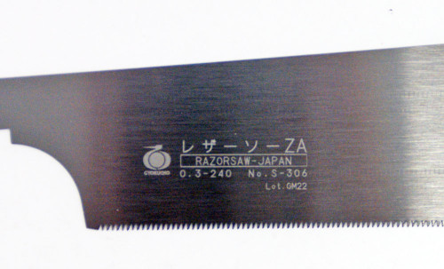 Gyokucho S-306 Woodworking Razor Saw ZA-Type Spare Blade (240 mm/ 1.5 mm pitch)