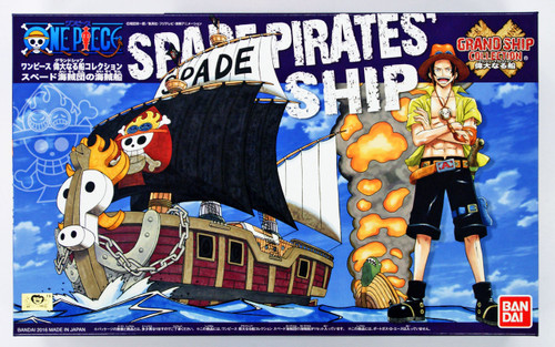 Bandai One Piece Grand Ship Collection 075837 Spade Pirates Ship