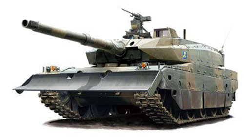 Fujimi 72M-3 JGSDF Type10 Tank Prototype No.3 Normal/Dozer 4968728722887 1/72 722887