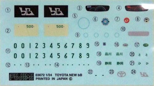 Fujimi ID-31 Toyota bB ZQ Z Q Version 1/24 Scale Kit