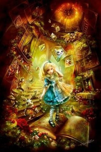 APPLEOne Jigsaw Puzzle 300-274 Alice In Wonderland (300 Pieces)