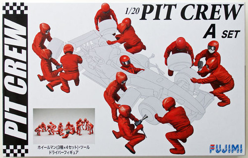 Fujimi GT20 112442 Pit Crew Set A 1/20 Scale Kit (GARAGE & TOOL SERIES No.20)