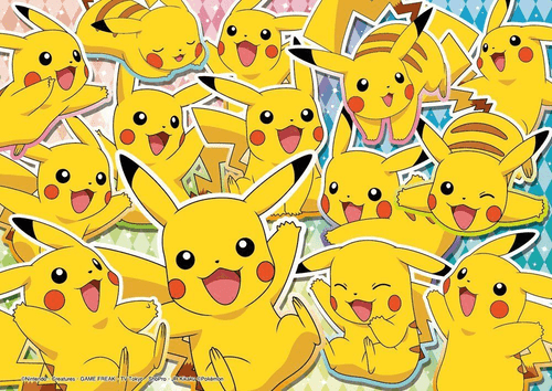 Beverly Jigsaw Puzzle 100-006 Pokemon XY&Z Glitter Many Pikachu (100 L-Pieces)