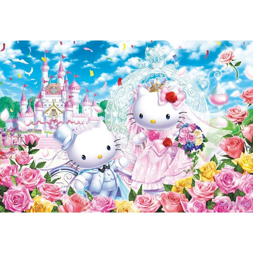 Beverly Jigsaw Puzzle 31-400 Sanrio Hello Kitty Castle Wedding (1000 Pieces)
