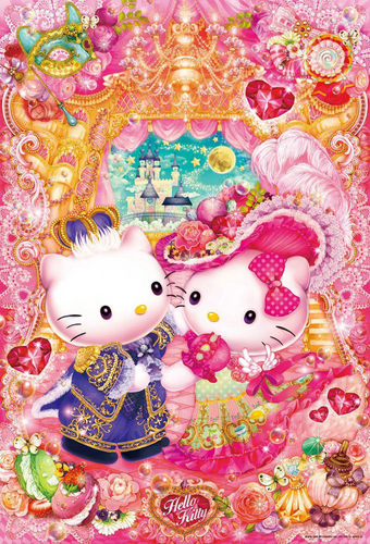 Beverly Jigsaw Puzzle 31-432 Sanrio Hello Kitty Beautiful Night (1000 Pieces)